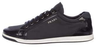 Prada Sport Nylon Low-Top Sneakers