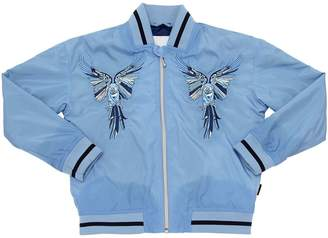 Molo Parrots Embroidered Nylon Bomber Jacket