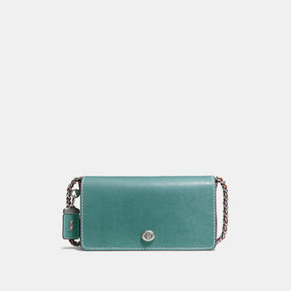 COACH Coach Dinky In Glovetanned Leather With Colorblock Snake $595 thestylecure.com