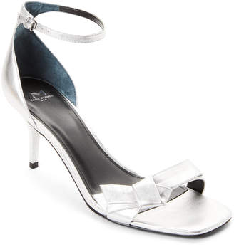 Marc Fisher Silver Tierra Metallic Bow Dress Sandals