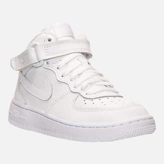 Nike Little Kids' Force 1 Mid Basketball Shoes