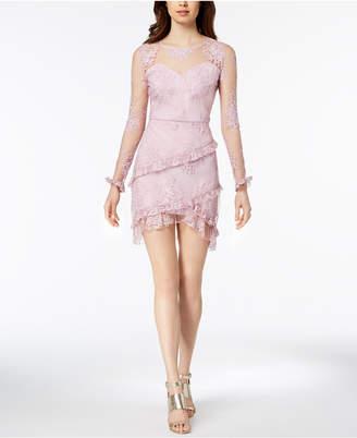 Nanette Lepore Nanette by Embroidered Mesh Sweetheart Dress