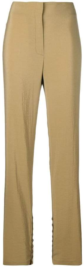 high-waisted button trousers