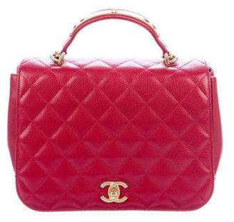 Chanel Caviar Carry Chic Flap Bag