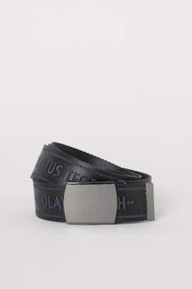 H&M Intarsia-motif Fabric Belt - Gray