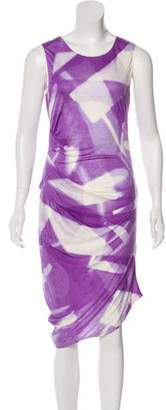 Halston Printed Midi Dress