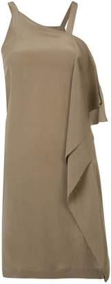 Isabel Benenato asymmetric drape dress