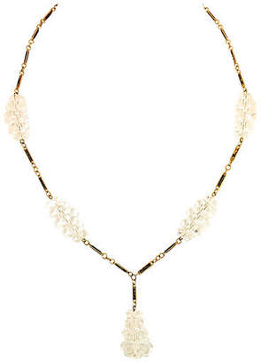 One Kings Lane Vintage Edwardian Rock Crystal & Enamel Necklace