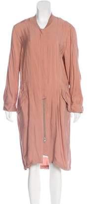 AllSaints Lightweight Zip-Up Coat