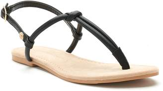 Lauren Conrad Women's Basic Knotted T-Strap Sandals
