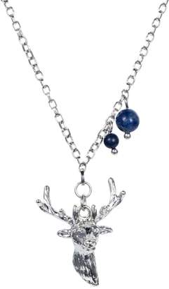 Lapis Nadia Minkoff - Stag Charm Necklace Silver with Blue