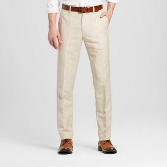 Merona Men's Slim Fit Linen Suit Pants Khaki $29.99 thestylecure.com