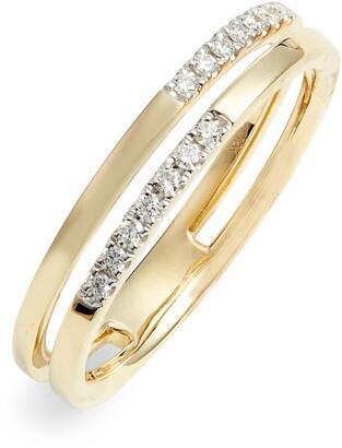 Bony Levy Diamond Double Stack Ring
