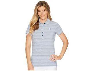 Under Armour Golf Zinger Novelty Polo Women's Short Sleeve Pullover