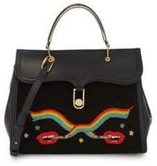Olympia Le-Tan Rainbow Embellished Leather Satchel