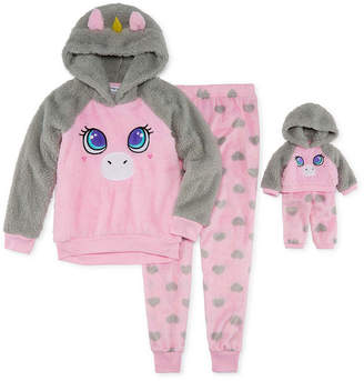 DOLLIE AND ME For Me and My Dream Doll 2-pc. Unicorn Pant Pajama Set - Girl