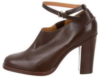 Veronique Branquinho Leather Round-Toe Booties