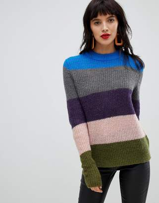 Pieces Bold Stripe Sweater