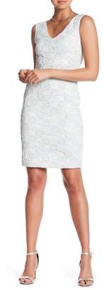 Donna Ricco Sleeveless Stretch Brocade Dress