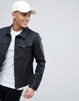 G Star G-Star BeRAW 3301 Slim Coated Denim Jacket
