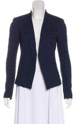 Theory Tweed Open-Front Blazer
