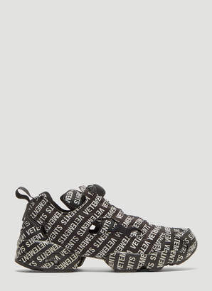 Vetements Monogram Sneakers in Black 314a26cc7