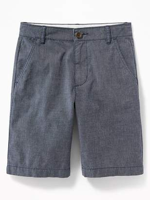 Old Navy Straight Built-In Flex Madras Shorts for Boys
