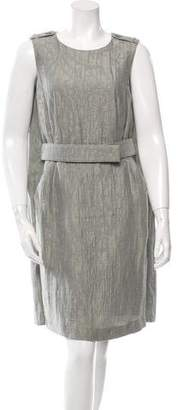 Armani Collezioni Flyaway Back Jacquard Dress w/ Tags