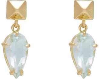 Monique Péan Women's Pear-Shaped Aquamarine & Polished Pyramid Stud Drop Earrings