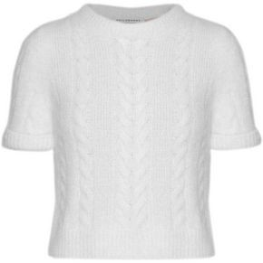 Philosophy di Lorenzo Serafini Metallic Brushed Cable-Knit Sweater