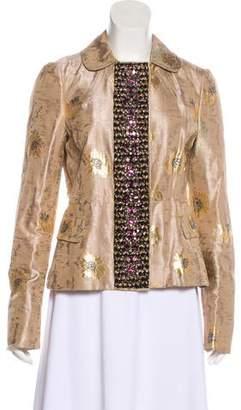 Prada Brocade Embellished Jacket