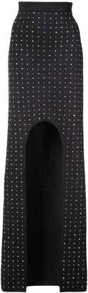 Balmain crystal-embellished maxi skirt