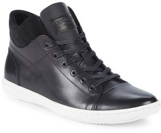 Kenneth Cole Lace-Up Leather High-Top Sneakers