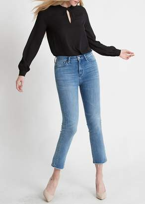 Flying Monkey Faria High Rise Hem Crop Straight Jeans