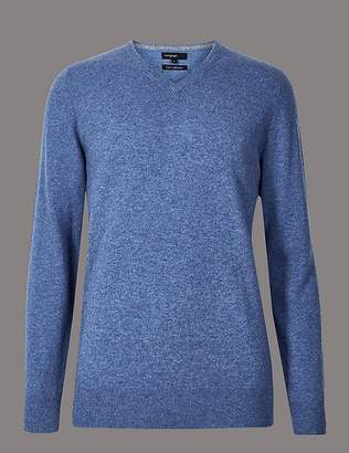 Marks and Spencer Pure Cashmere V-Neck Jumper
