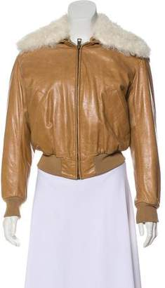 Chloé Shearling-Trimmed Short Coat