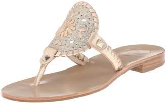 Jack Rogers Women's Georgica Sparkle Flat Sandal