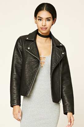 FOREVER 21+ Textured Moto Jacket $32.90 thestylecure.com