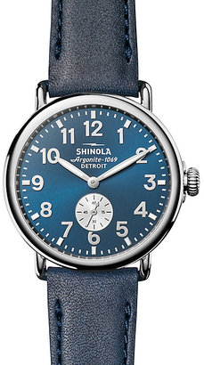 Shinola Runwell 41 Men's Blue Stainless Steel Strap Watch