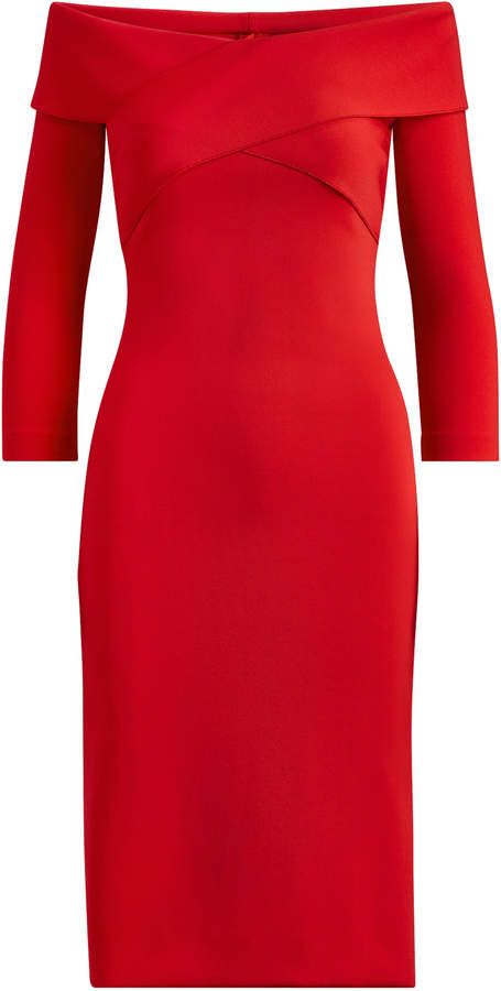 Ralph Lauren Double Knit Jersey Austine Dress