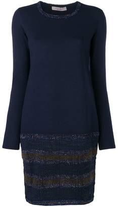 D-Exterior D.Exterior glittered trim sweater dress