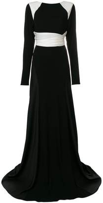 Vionnet long-sleeved flared gown