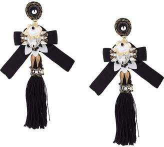Ranjana Khan oversized tassel earrings