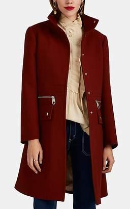 Chloé Women's Zip-Detailed Compact Wool Coat - Rust