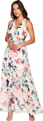 Vince Camuto Women's Printed Chiffon Maxi Dress