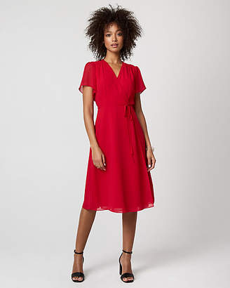 Le Château Chiffon Wrap-Like Dress