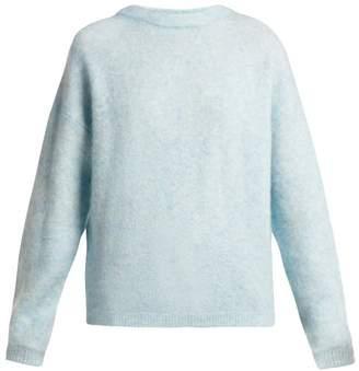 Acne Studios Dramatic Mohair Blend Sweater - Womens - Light Blue