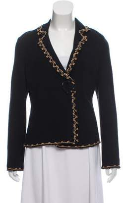 Blumarine Embroidered Knit Cardigan Black Embroidered Knit Cardigan