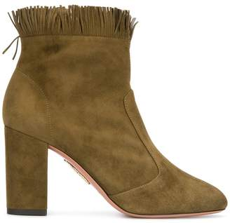 Aquazzura fringed ankle boots