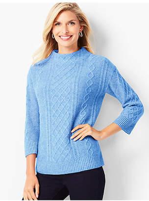 Talbots Cashmere Cable Mockneck Sweater